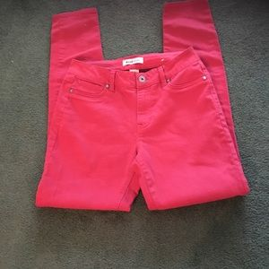💕Cranberry colored skinny straight leg jeans